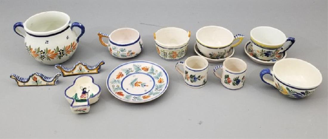 Collection of Henriot French Quimper Pottery Items