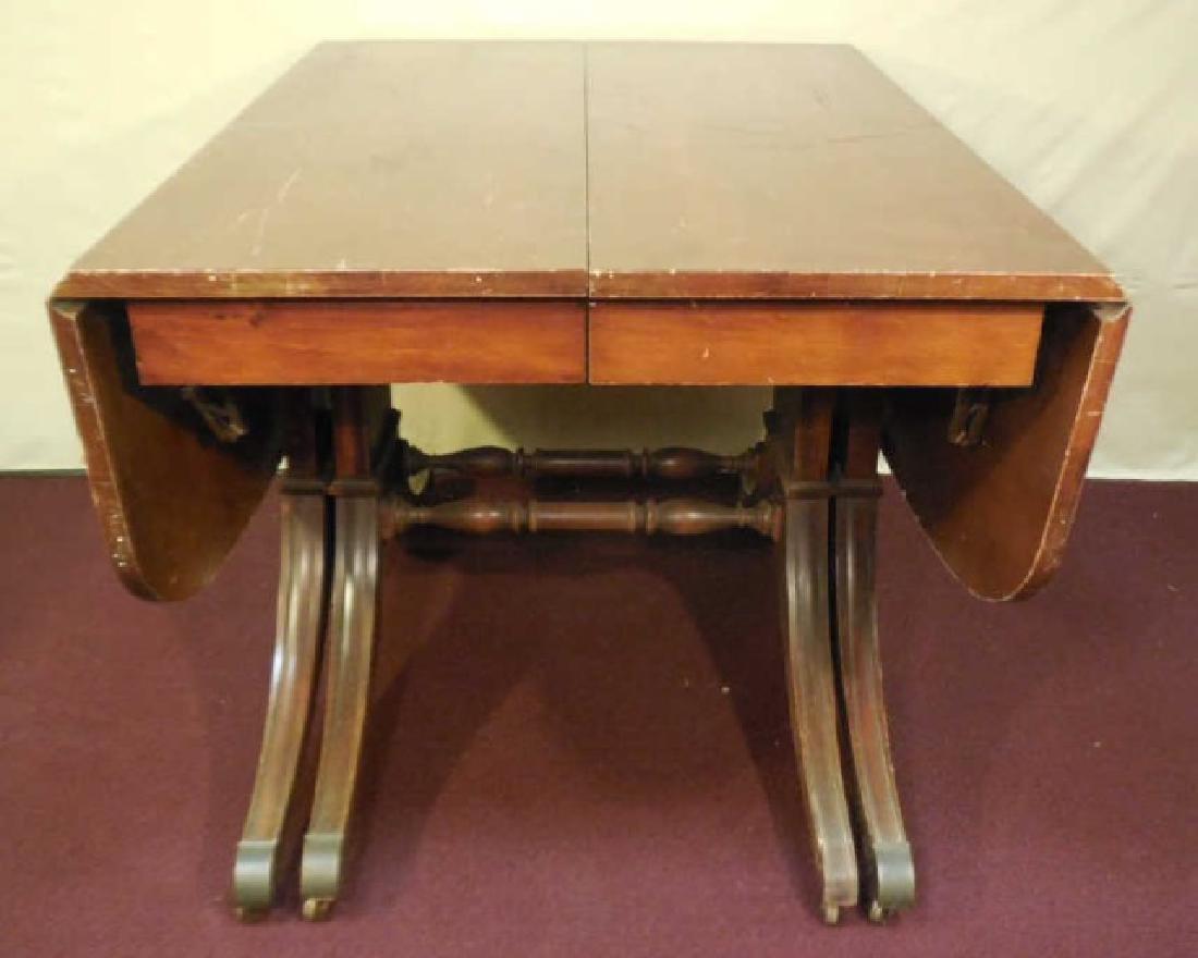 Sheraton Style Mahogany Drop Leaf Dining Table
