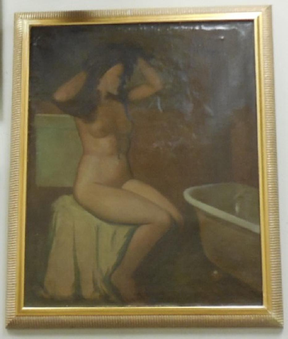 F.A. Bridgman Oil Painting of a Nude Bather
