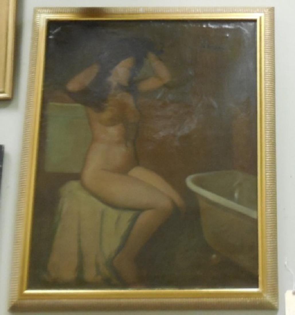 F.A. Bridgman Oil Painting of a Nude Bather - 3
