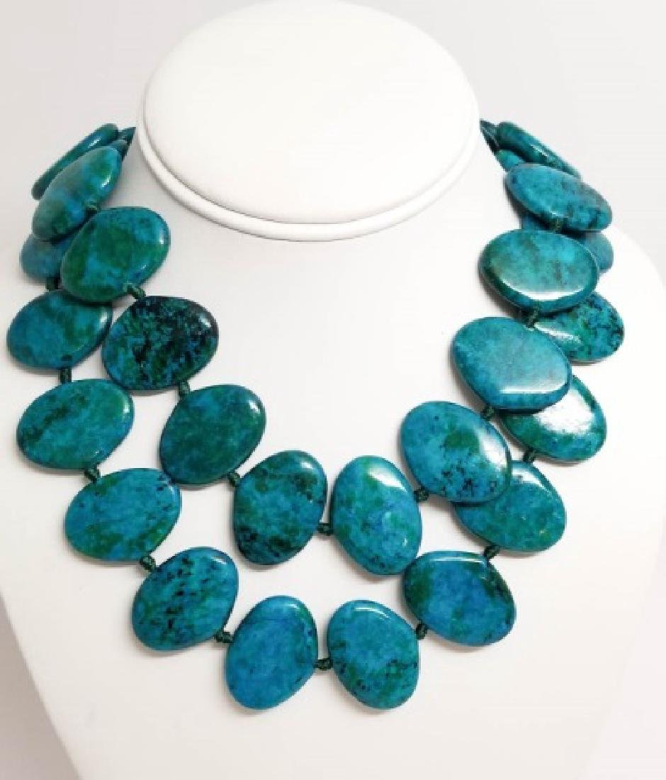 Two Contemporary Hand Made Hardstone Necklaces