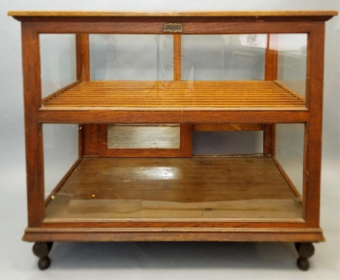 Antique Carved Oak Store Counter / Store Display