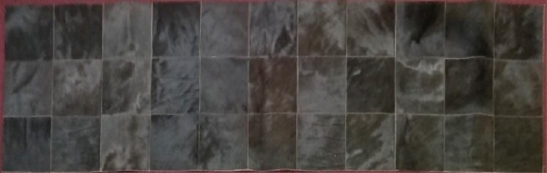 Modern Geometric Design Cow Hide Carpet Runner