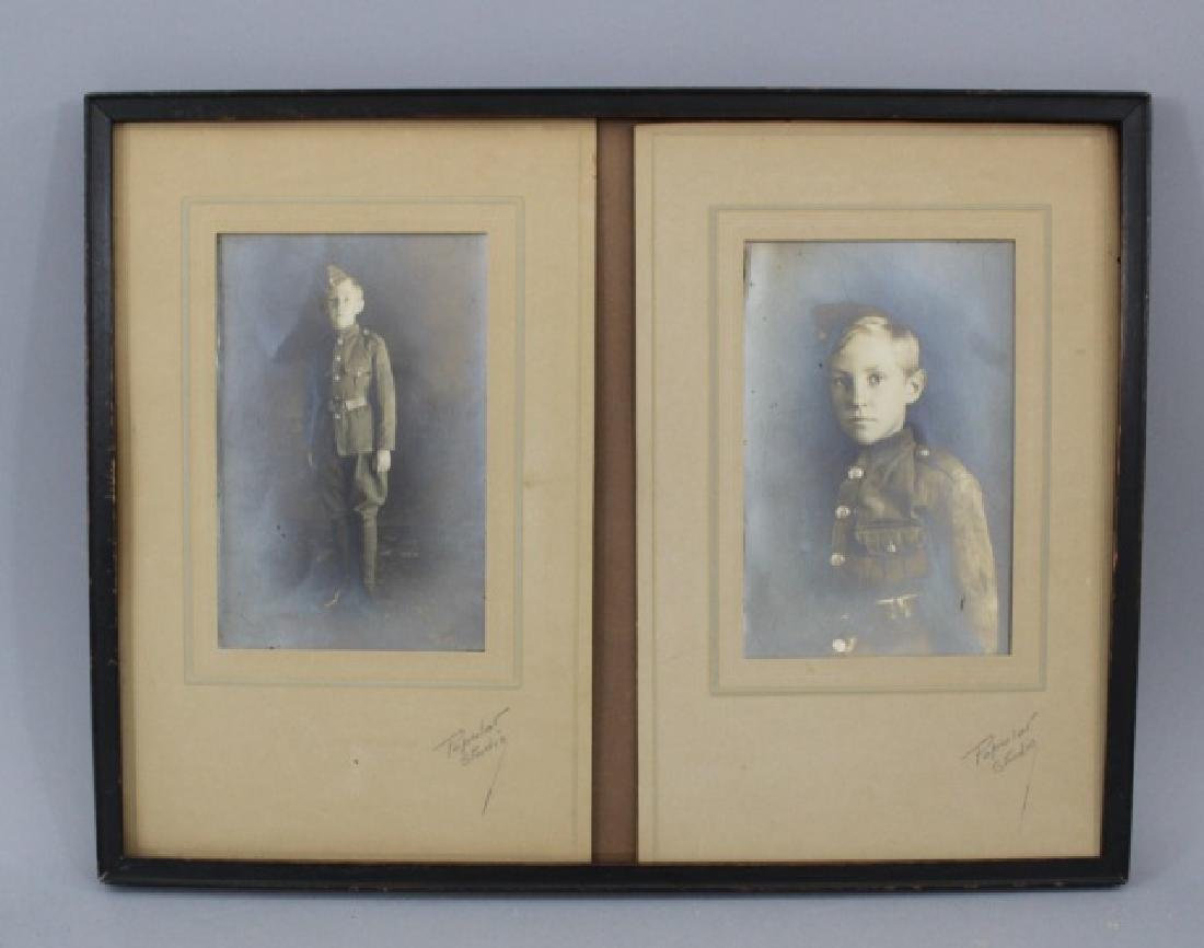 Two Antique Framed Photograph - Young Military