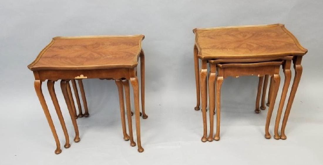 Two Pairs of Vintage 3 Stack Nesting Tables