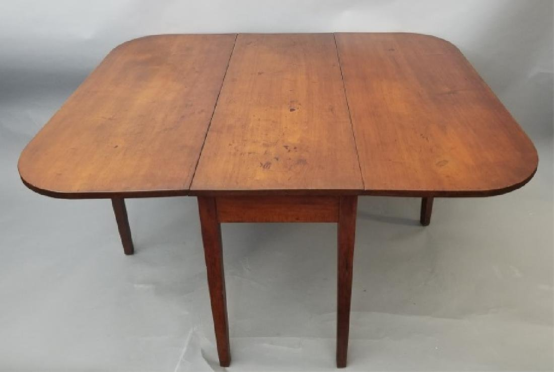 Antique Large Drop Leaf Wood Dining Table