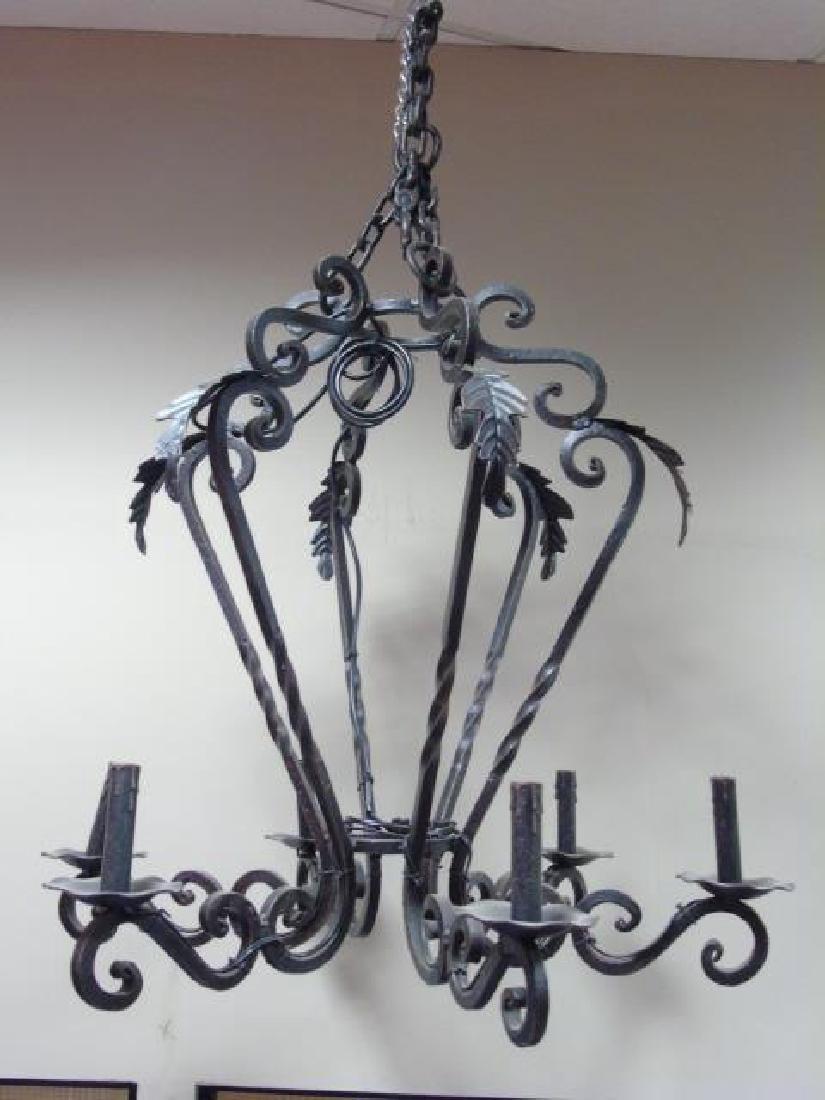 Gothic Teardrop Black 6-Light Chandelier