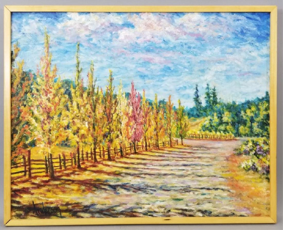 Scott Anderson Signed Oil Painting of Los Arbres