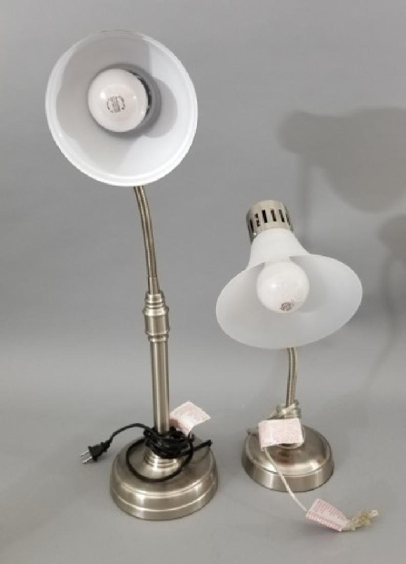 Two Contemporary Adjustable Desk / Table Lamps