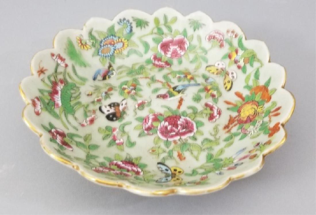 Antique Scalloped Edge Chinese Export Celadon Bowl