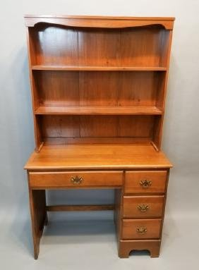 Wood Desk With Bookcase Top
