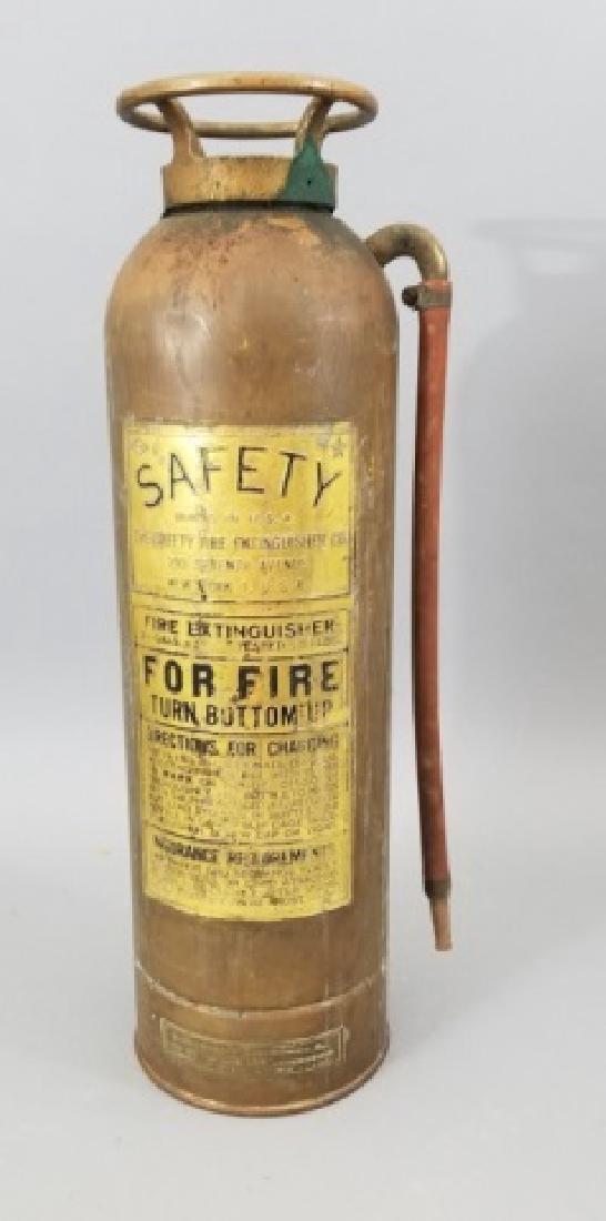 Antique Copper & Brass Fire Extinguisher