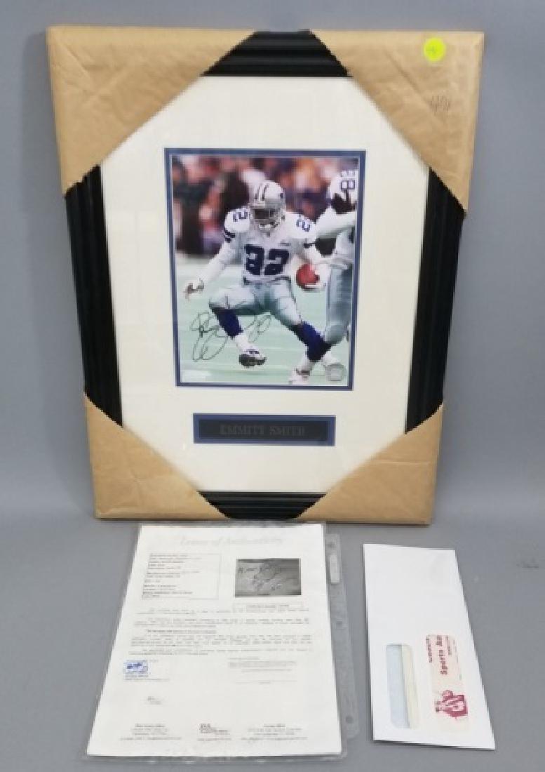Framed Signed Emmitt James Smith NFL Photograph