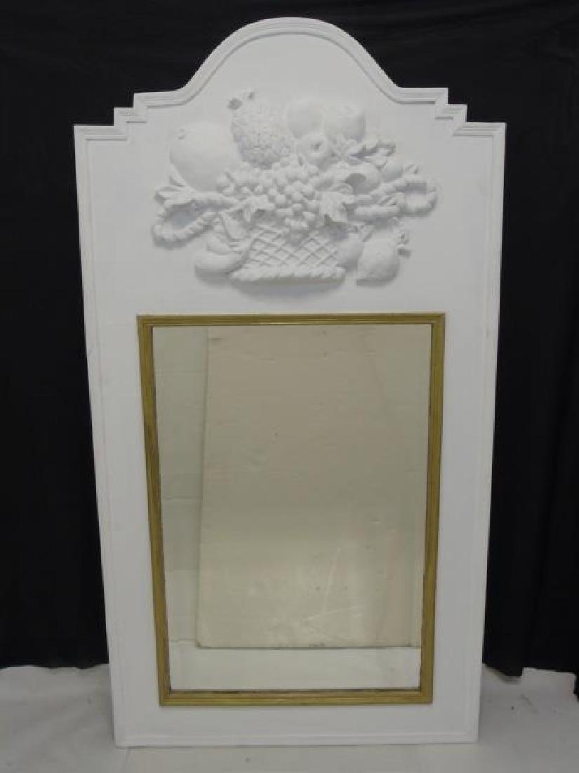 Antique French Trumeau Mirror Fruit Plaque Relief