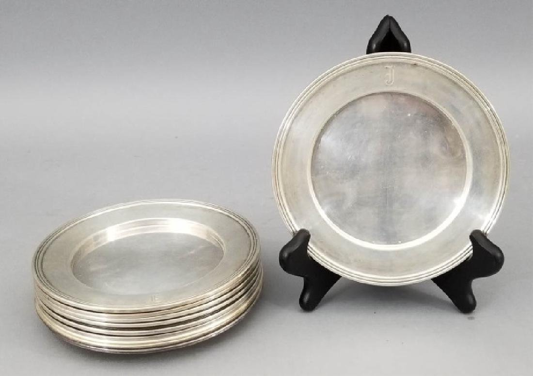 Set of 12 Sterling Silver Cake or Bread Plates