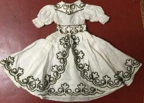 Fine Antique French Huret Early Fashion Doll Dress