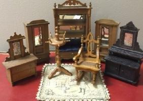 Antique Dollhouse German Schneegass Furniture