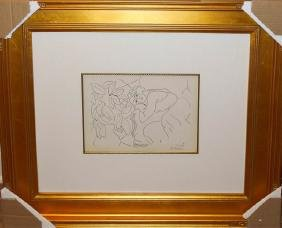 Henri Matisse Portrait Of Woman Framed Lithograph