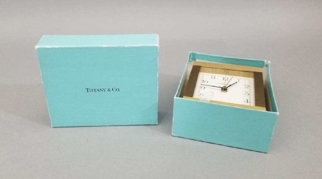 Tiffany & Co Swiss Made Alarm Clock Original Box
