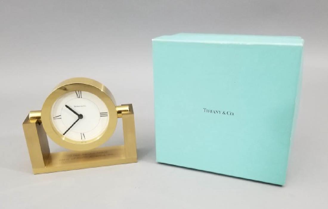Tiffany & Co Swiss Made Clock in Original Box