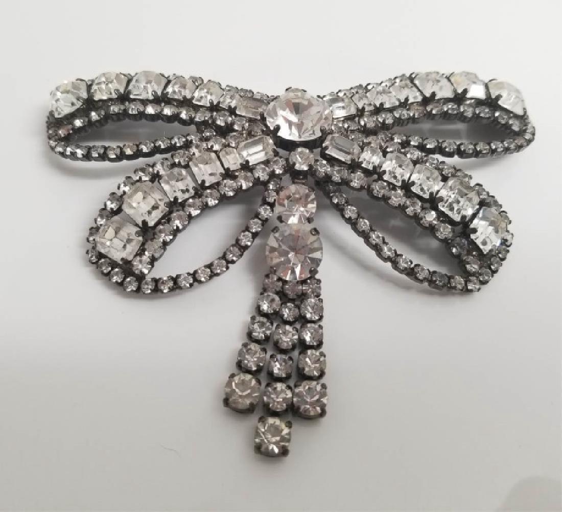 Very Large Costume Jewelry Rhinestone Dragonfly