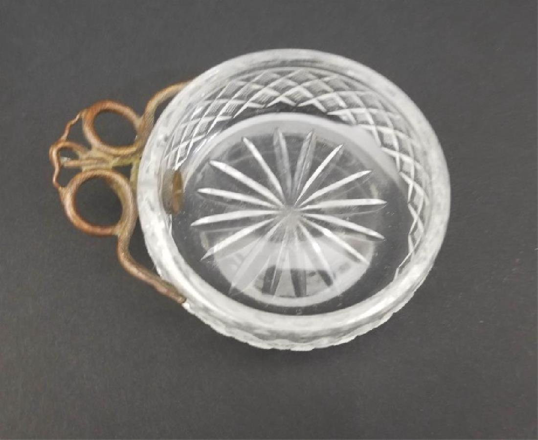 Antique19th C Cut Crystal & Entwined Snake Bowl