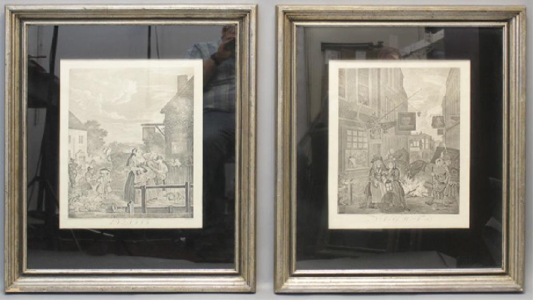 Pair of Framed William Hogarth Engravings C 1738