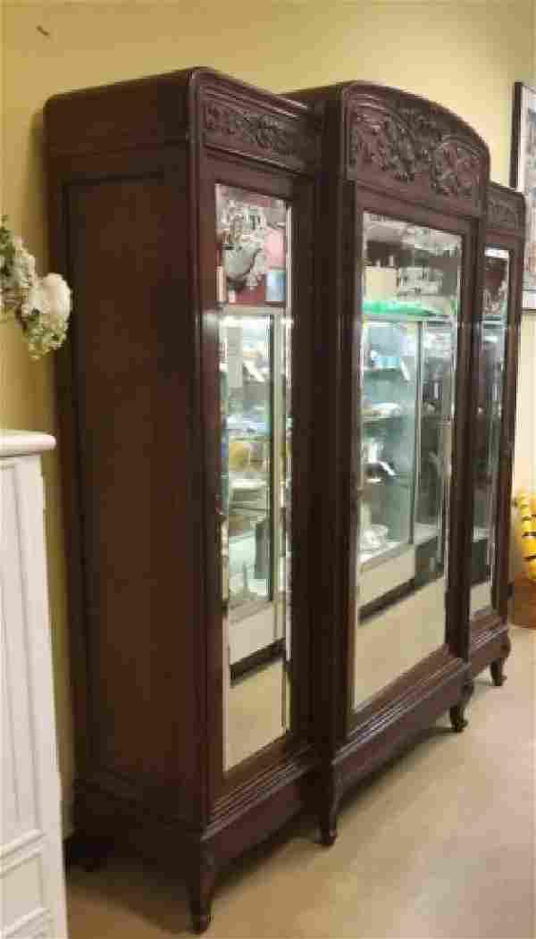 Large Antique C 1900 Continental Armoire Cabinet