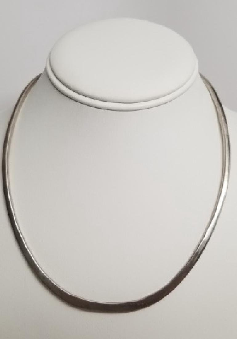 Sterling Silver Open Wire Torque Collar Necklace - 2