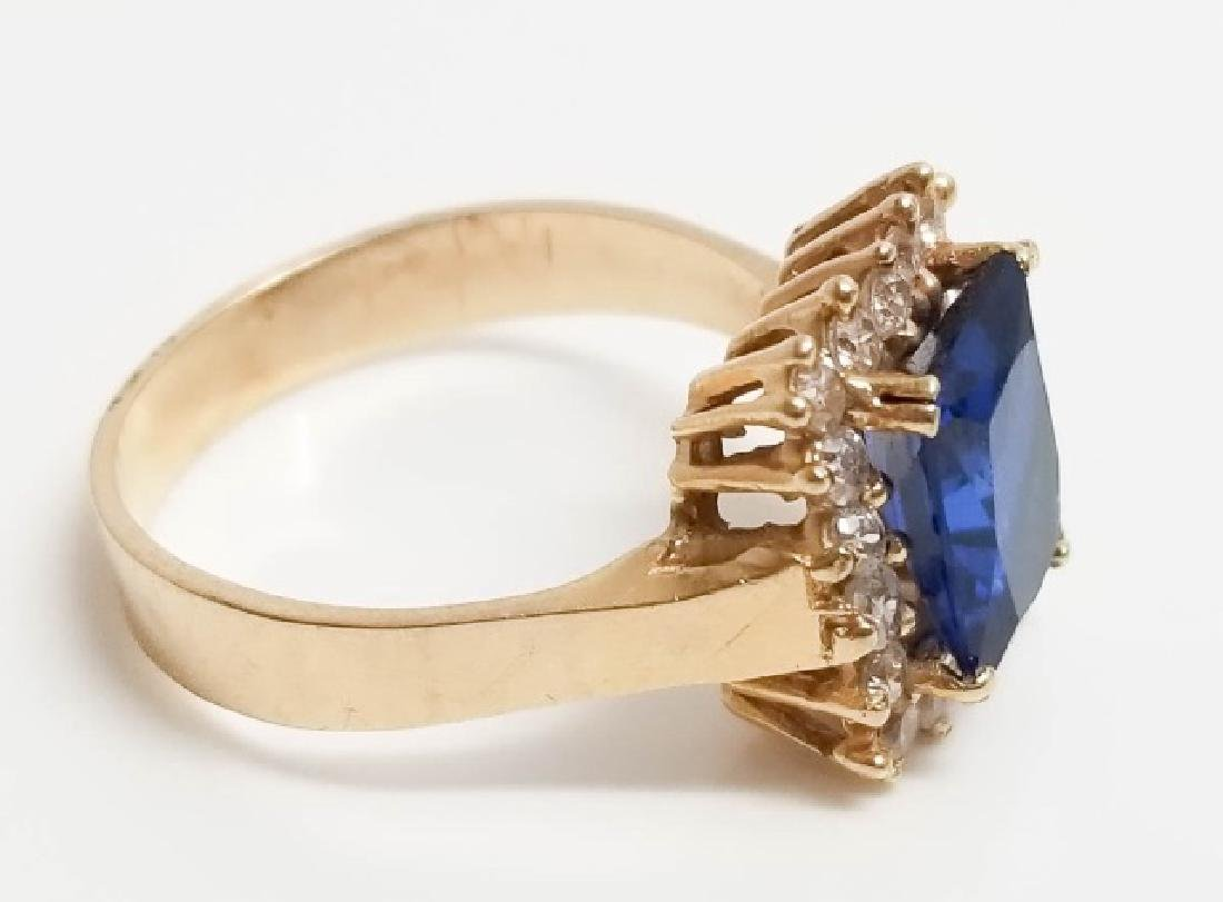 Vintage 14kt Yellow Gold & Diamond Cocktail Ring