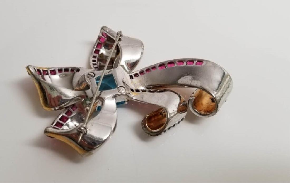 Vintage Marcel Boucher Large Bow Brooch Pin - 2