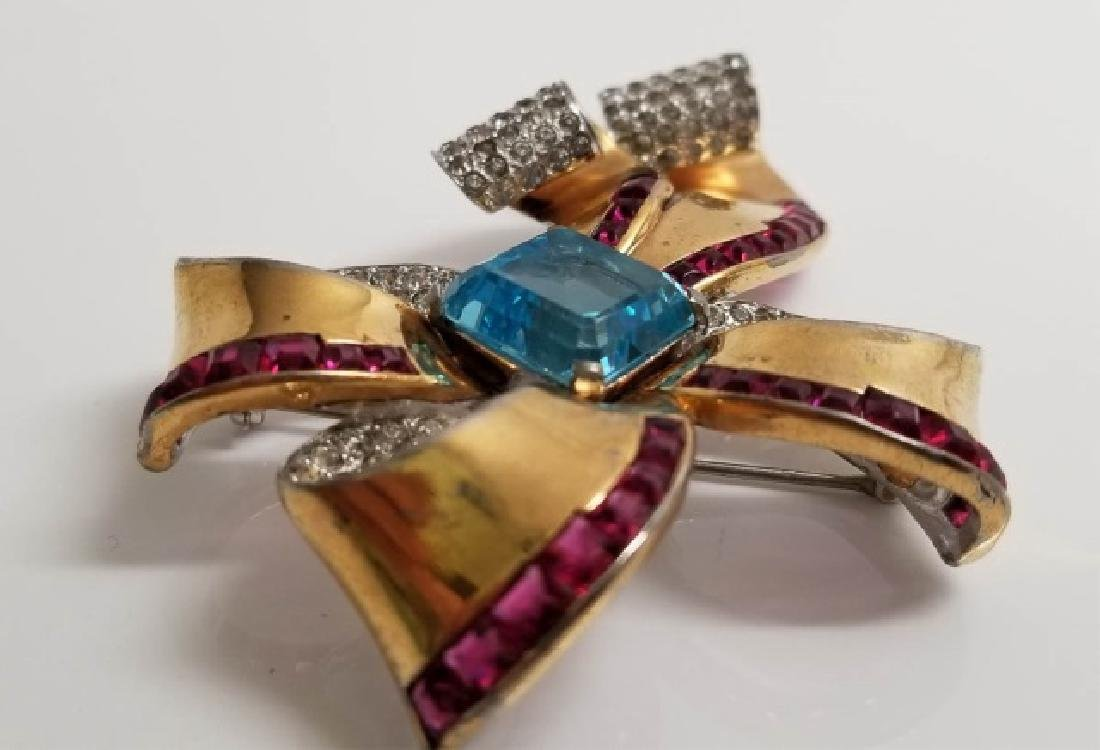 Vintage Marcel Boucher Large Bow Brooch Pin - 7
