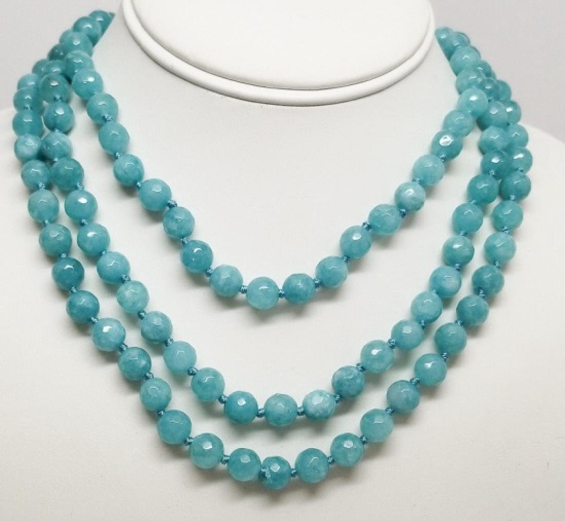 3 Contemporary Faceted Crystal Necklace Strands