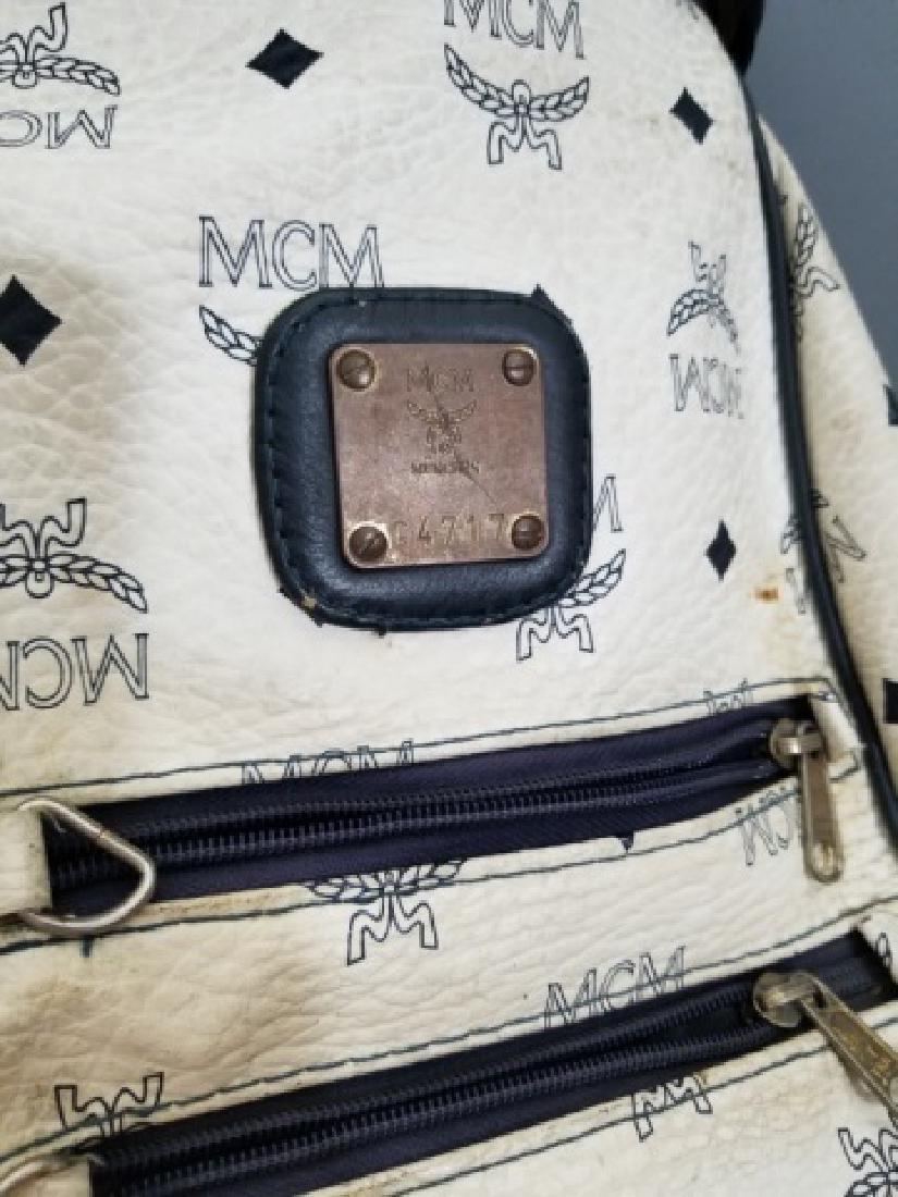 Vintage MCM Designer Leather Golf Bag Logo Print - 2