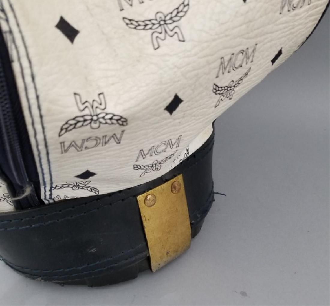 Vintage MCM Designer Leather Golf Bag Logo Print - 3