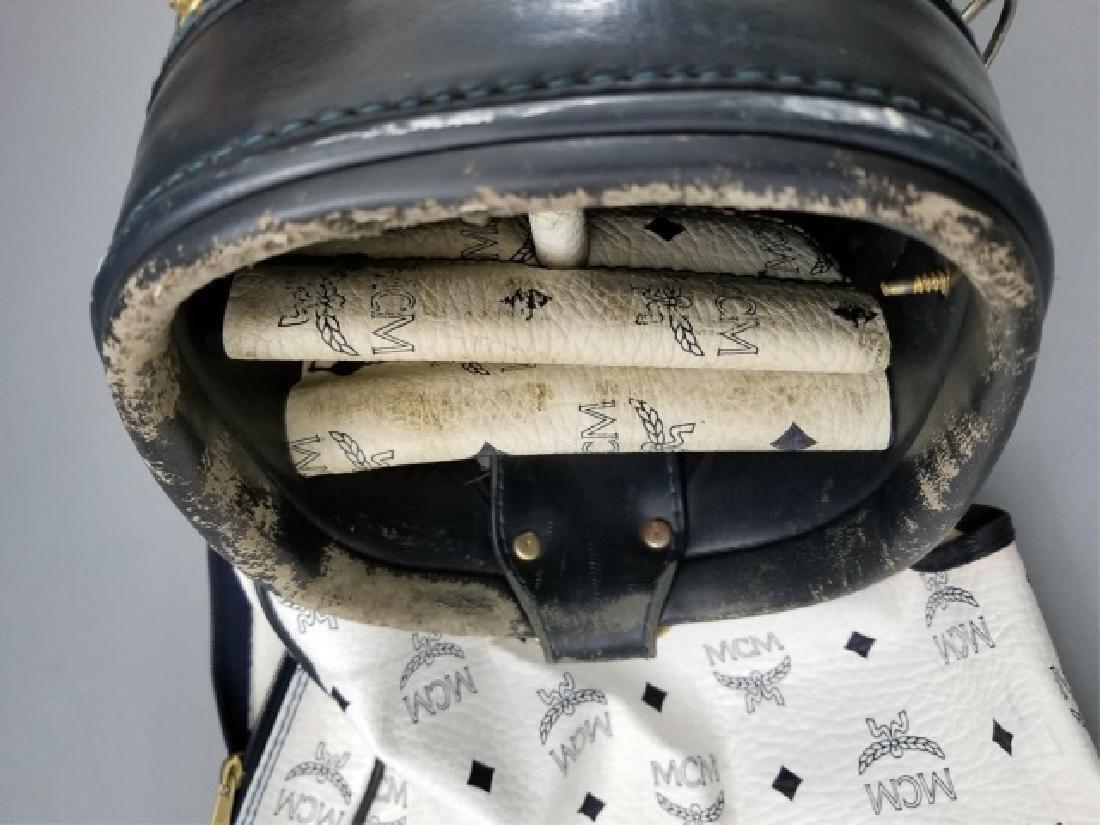 Vintage MCM Designer Leather Golf Bag Logo Print - 5
