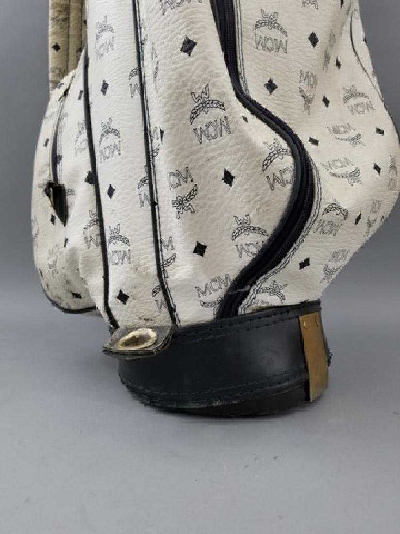 Vintage MCM Designer Leather Golf Bag Logo Print - 6