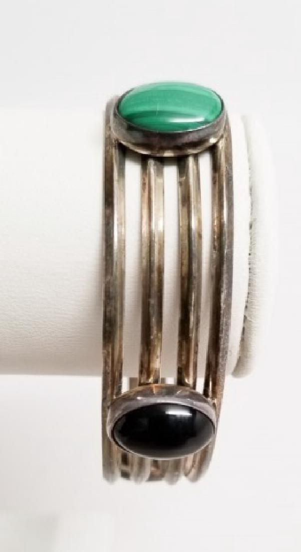 Vintage Sterling Silver Native American Bracelet