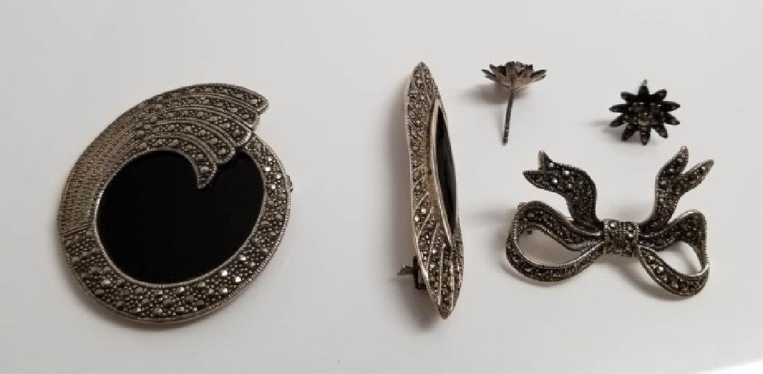 Estate Vintage Marcasite & Sterling Jewelry Items