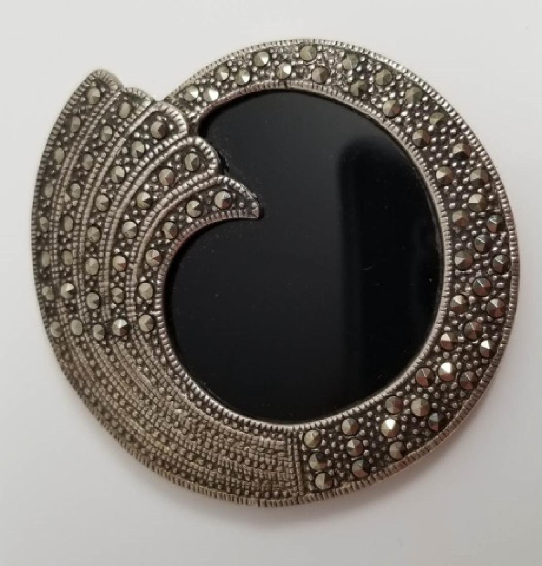 Estate Vintage Marcasite & Sterling Jewelry Items - 3