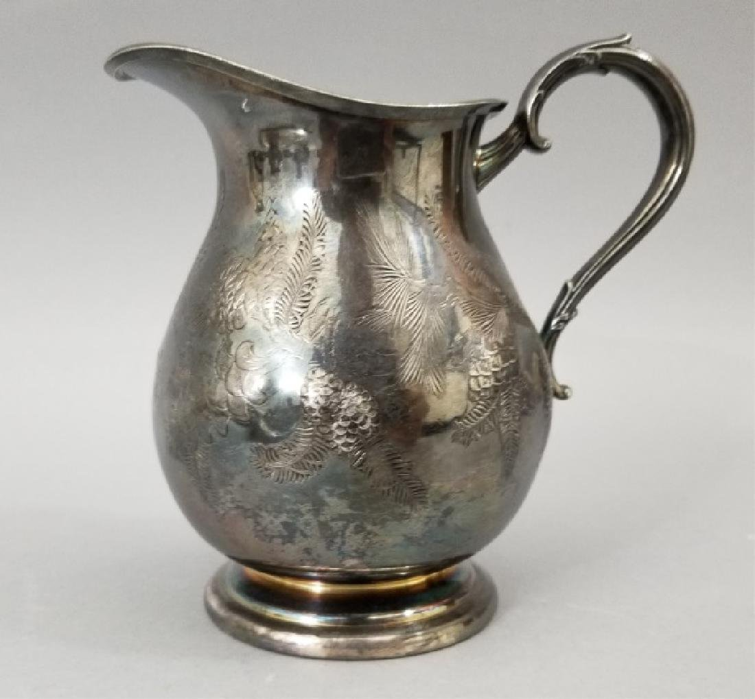 Antique Pinehurst Pattern Silver Tea Coffee Set - 7