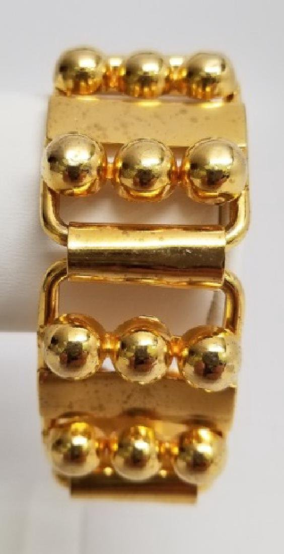 Retro Gilt Mexican-Style Link Bracelet wBox Clasp - 10