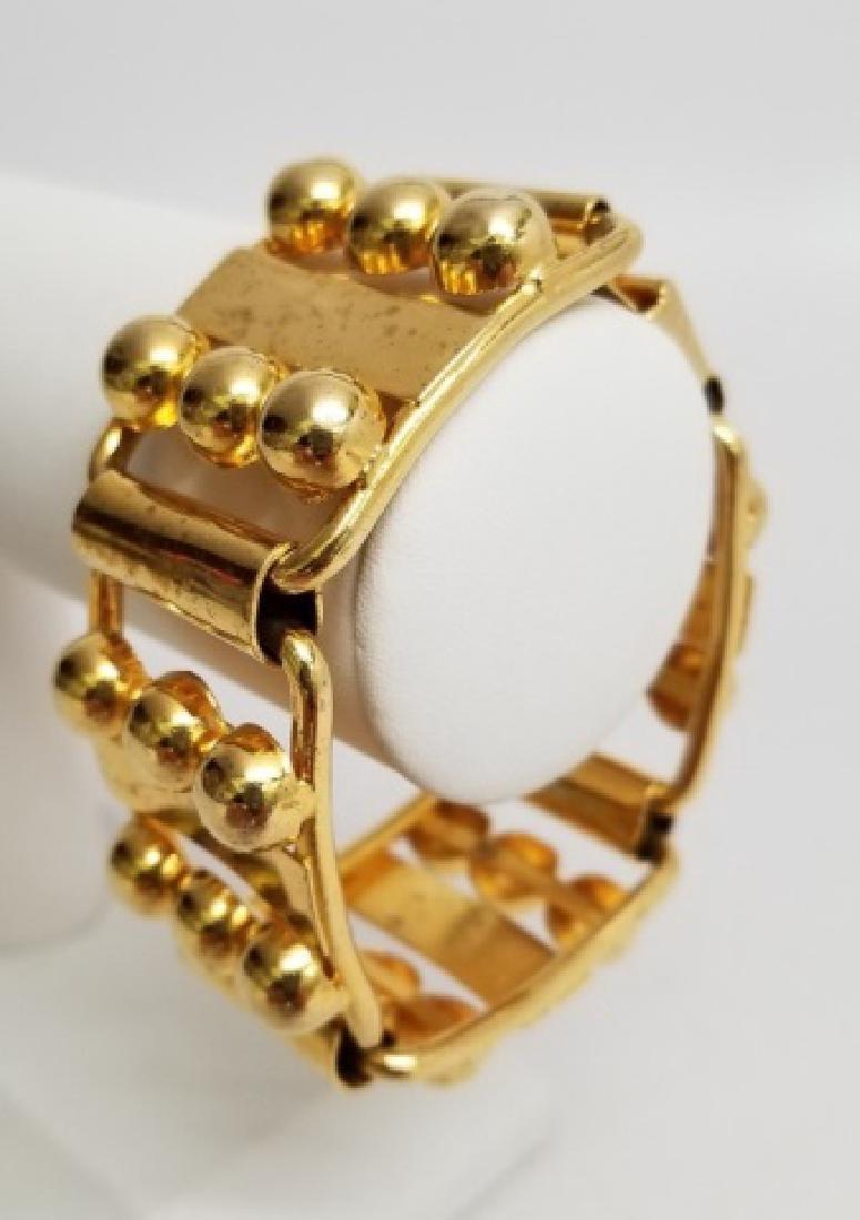 Retro Gilt Mexican-Style Link Bracelet wBox Clasp