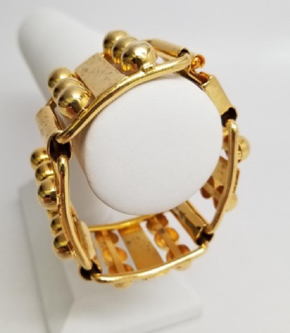 Retro Gilt Mexican-Style Link Bracelet wBox Clasp - 2