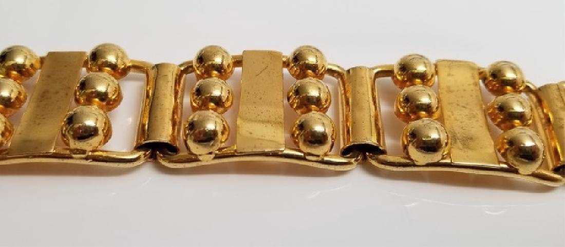 Retro Gilt Mexican-Style Link Bracelet wBox Clasp - 5
