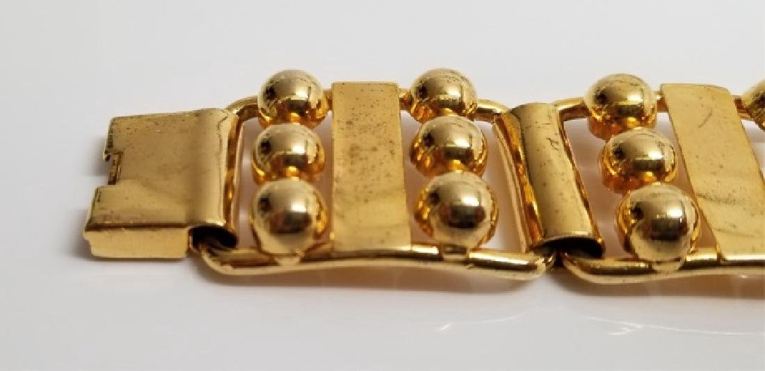 Retro Gilt Mexican-Style Link Bracelet wBox Clasp - 6
