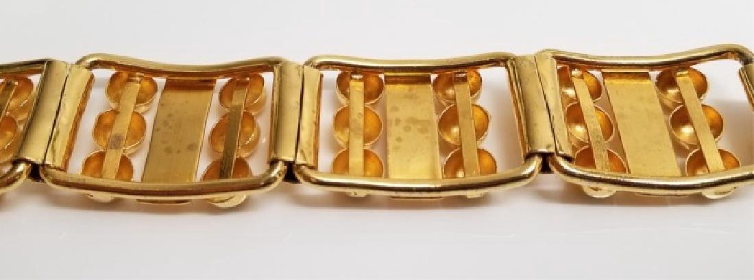 Retro Gilt Mexican-Style Link Bracelet wBox Clasp - 8