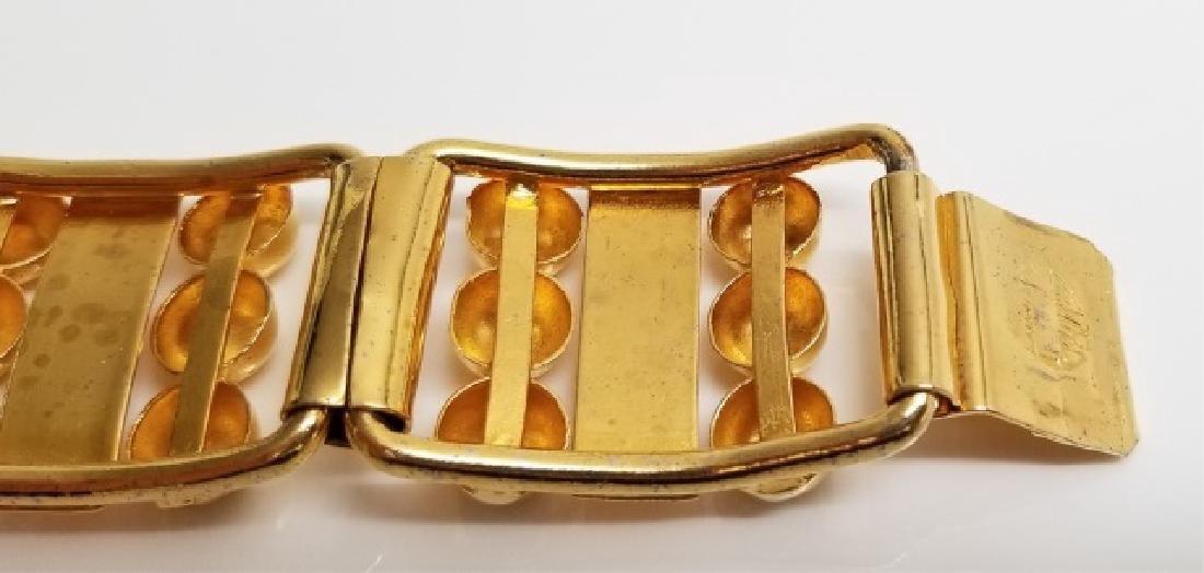 Retro Gilt Mexican-Style Link Bracelet wBox Clasp - 9
