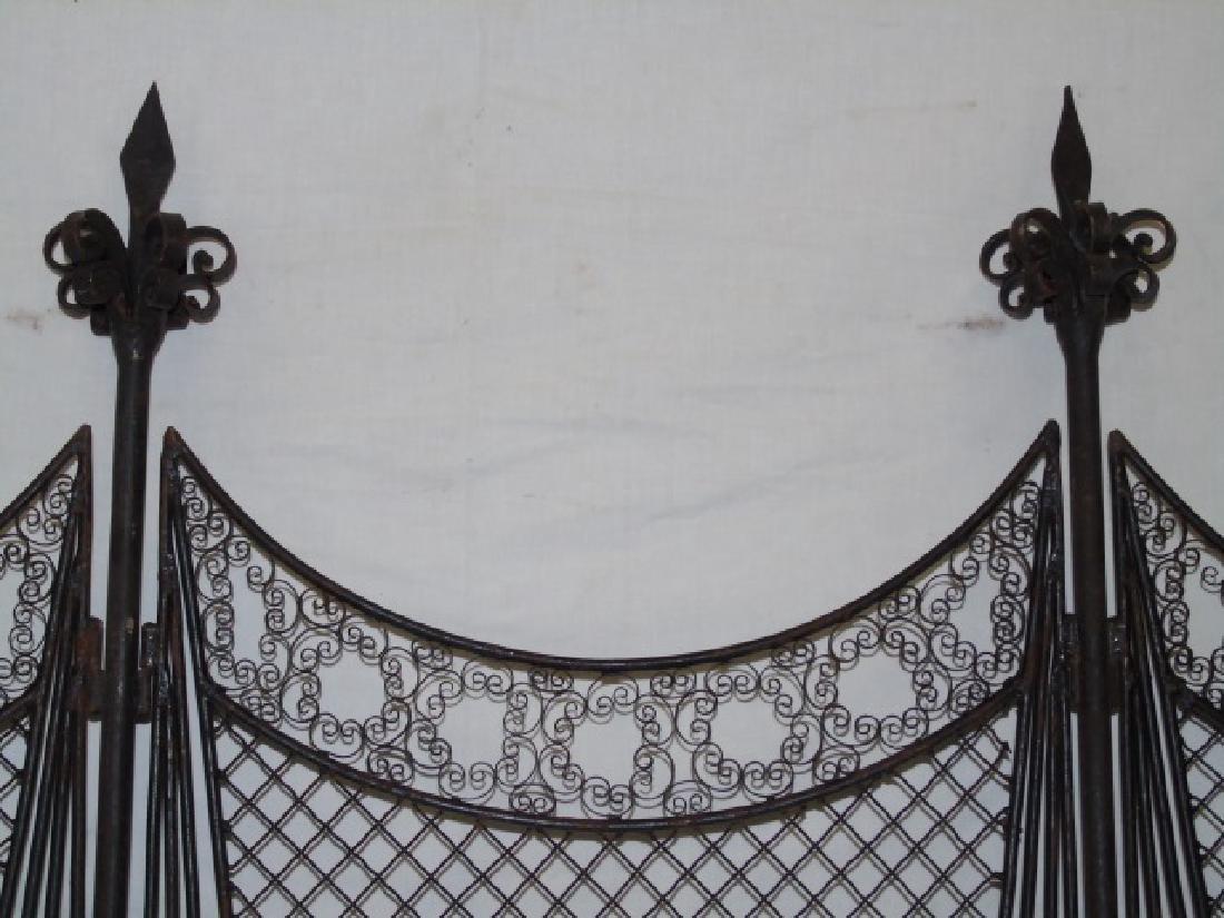Antique Wrought Iron 5 Panel Screen - 6