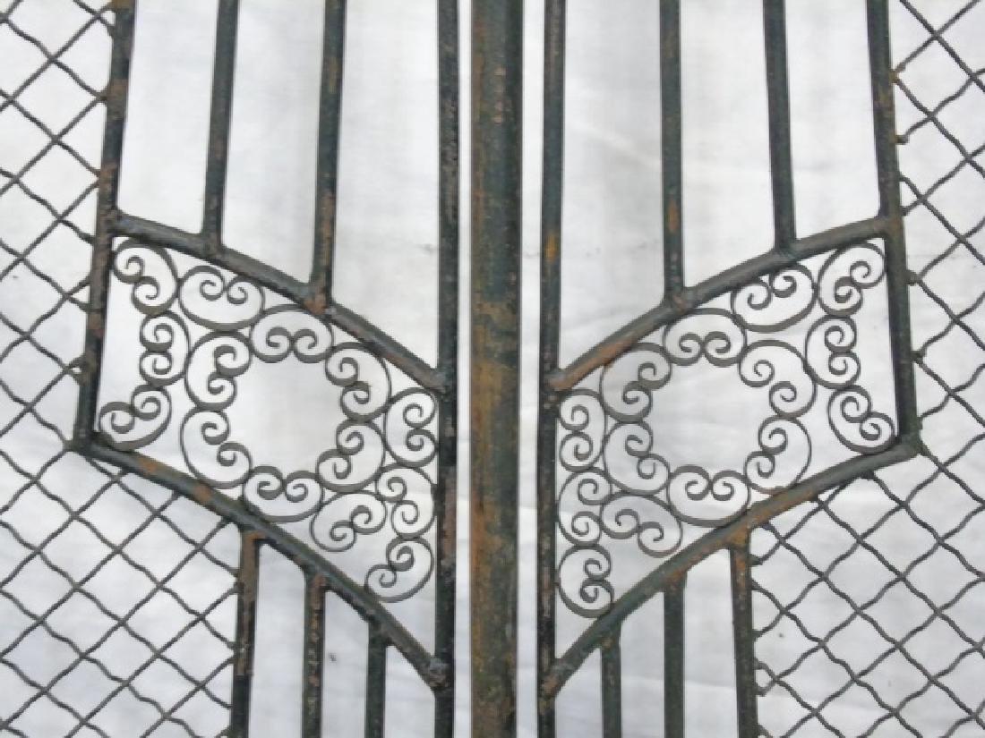 Antique Wrought Iron 5 Panel Screen - 7